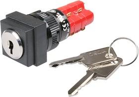 ADD16K4-AS0-2C кнопка ключ.с фик. 250В/5А