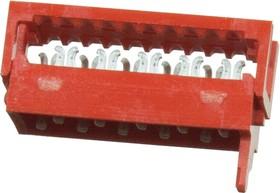 Micro-Match-10 вилка на шлейф 1.27мм 8-215083-0