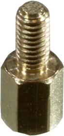 PCHSN- 6mm, М3,латунь,шестигр.стойка для п/плат