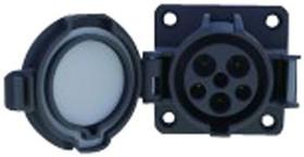 DSI-EV32S-NC, Разъем ввода питания, Серия IEC 62196-2 Type 1, SAE J1772, Гнездо, 240 В AC, 32 А, Монтаж на Кабель