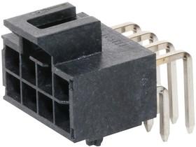 Фото 1/2 105314-1208, Разъем типа провод-плата, 2.5 мм, 8 контакт(-ов), Штыревой Разъем, Nano-Fit 105314 Series