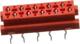 Micro-Match-10 розетка на плату прямая 1.27мм 8-215079-0