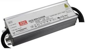 Фото 1/2 HLG-80H-C700B, AC/DC LED, 90.3Вт, IP67, 84…129В/700мА, блок питания для светодиодного освещения