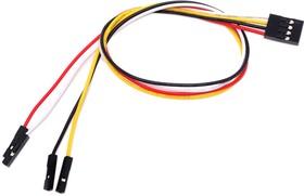 Фото 1/2 4 pin to 4 separated pins female jumper wire-300mm (5 PCs pack), Набор проводов соединительных (F-F) 5 штук