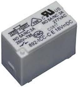 Фото 1/3 892H-1CH-C 12VDC, Реле 1пер. 12В / 5A, 250V