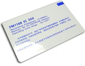 M1 RFID card (13.56Mhz), RFID/NFC перезаписываемая карта, FM1108 IC S50, 13.56 МГц