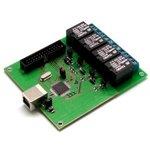 MP714, Реле управления нагрузкой и контроля через USB