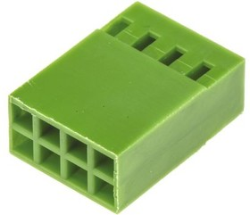 925367-4, Conn Housing RCP 8 POS 2.54mm Crimp ST Cable Mount Green Box