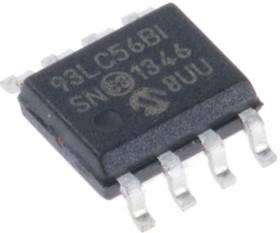 93LC56B-I/SN, Микросхема памяти, EEPROM, 2Kb (128 x 16), SPI, 2МГц [SOIC-8]
