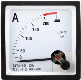 Амперметр 200/5А 50гц (72х72)