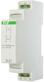 Фото 1/2 Блок питания ZI-21 (импульсный; Uвых. 24В DC; монтаж на DIN-рейке 35мм; 1 модуль 90-264В AC 0.5А 12Вт IP20) F&F EA11.001.011