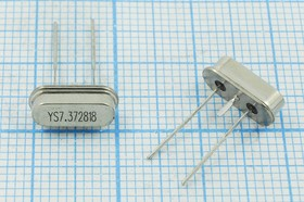 Фото 1/4 Кварц 7.3728МГц в низком корпусе SC49S с возможностью лёгкой трансформации в SMD,с заземлением,7372,8 \SC49S3-3\18\ 20\ 30/-20~70C\SMD4H-3\1