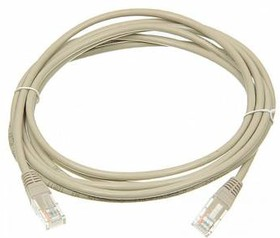 Кабель Патч-корд LANMASTER FTP, вилка RJ-45, вилка RJ-45, кат.6, ПВХ, 3м, серый [twt-45-45-3.0/6-gy]