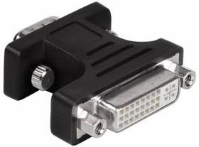 Адаптер DVI HAMA H-34624 VGA HD15 (m) - DVI (f) 0.05м, блистер, черный [00034624]