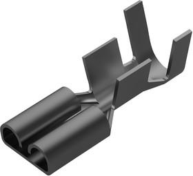 160914-2, Клеммы быстрого отключения, FASTON 250 Series, Гнездовой Быстрого Соединения, 6.35мм x 0.81мм