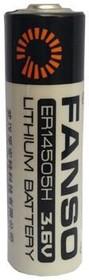 Фото 1/3 ER14505H/S (AA), Элемент питания литиевый 2700(2600)мАh (1шт) 3.6В