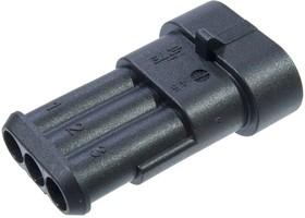 282105-1., Superseal1.5, вилка 3 контакта (Metri-Pack)