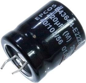 B43644E2227M, B43644E2227M000, snap in 220мкФ 250В
