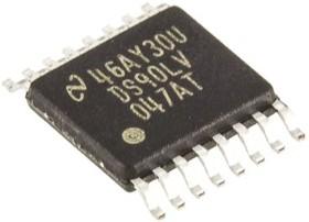 DS90LV047ATMTC/NOPB, LVDS драйвер, 4-канальный, 400Mbps [TSSOP-16]
