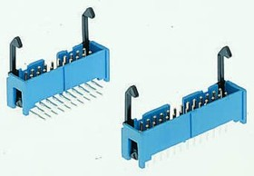 3-1761607-5, Conn Ejector Header HDR 50 POS 2.54mm Solder RA Thru-Hole Tube
