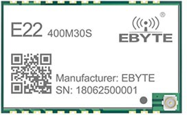 E22-400M30S, Module Low consumption,anti- interference; SPI; IPEX/STAMP; 433MHz 470M; 30dBm; 12; 0.01