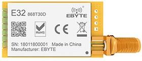 E32-868T30D, Module LoRa spread spectrum; UART; SMA-K; 868MHz; 30dBm; 8.0; 0.3k~19.2k; 24*43