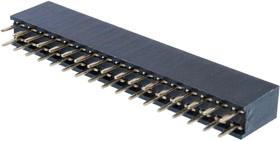 PBD-34 (2x17), гнездо на плату шаг 2,54мм 2=17 DS1023-2*17S21