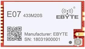 E07-433M20S, Беспроводной модуль 425~450.5MHz, CC1101, 2.0km, SPI,20dBm