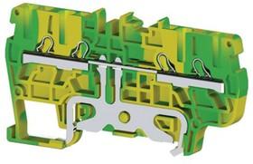 PYK2,5CT (земля), Клеммник пруж. быстрозажимной (Push in), 4-хвыводной, 2,5 мм.кв.