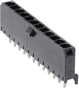 43650-1216, Разъем типа провод-плата, 3 мм, 12 контакт(-ов), Штыревой Разъем, Micro-Fit 3.0 43650 Series