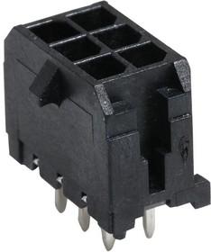 43045-0628, Разъем типа провод-плата, 3 мм, 6 контакт(-ов), Штыревой Разъем, Micro-Fit 3.0 43045 Series
