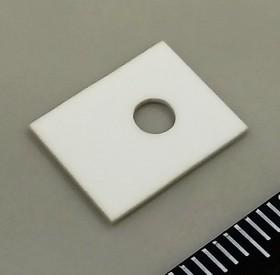 Al2O3 KC304000-TO126.1A, Подложка керамическая теплопроводящая Al2O3 25 Вт/мК, 25кВ/мм для ТО-126 1х10х13мм отверстие d3,1 | купить в розницу и оптом