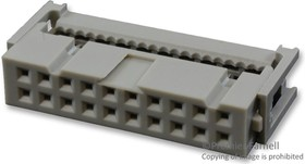 842-812-2022-134, WIRE-BOARD CONNECTOR, SOCKET, 20 POSITION, 2.54MM