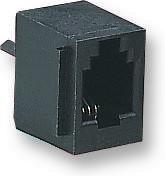 69254-001LF, Модульный разъем, Cat3, Modular Jack, 1 x 1 (Port), 6P6C, Cat3, Монтаж в Сквозное Отверстие