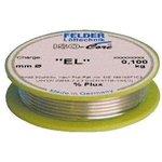 """Sn95.5Ag3.8Cu0,7 Тр ISO-Core """"EL"""" (0.75мм), Припой олово-серебро-медь, катушка 100г"""