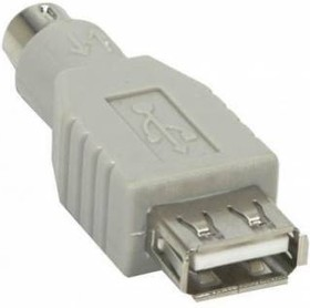 Переходник PS/2 NINGBO MD6M, PS/2 (m) - USB A (f), серый [usb013a]