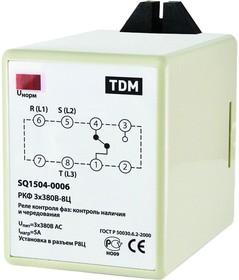 SQ1504-0006, РКФ 3х380В-8Ц, Реле контроля фаз цокольное