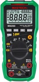 MS8250D, Мультиметр с USB интерфейсом,авто.выбор диапозона измерения, детектор напряжения, TRUE RMS