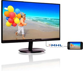 234E5QHSB (00/01), Монитор LCD 23'' [16:9] 1920х1080 IPS, GLARE, 250cd/m2, H178°/V178°, 1000:1, 20М:1, 16,7M Color, 5ms