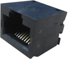 RJSSE5080, Модульный разъем, RJ45 Jack, 1 x 1 (Port), 8P8C, Cat5, Поверхностный Монтаж