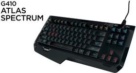 920-007752, Клавиатура G410 Atlas Spectrum игровая USB-клавиатура, подставка Arx Control, подсветка клавиш, без