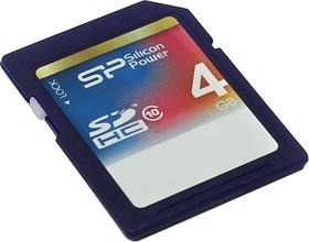 SP004GBSDH010V10, Карта памяти SDHC 4 ГБ, Class 10.
