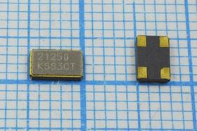 кварцевый резонатор 21.25МГц в корпусе SMD 5x3.2мм, 1-ая гармоника, нагрузка 20пФ, 21250 \SMD05032C4\\ \\CX5032SB\1Г
