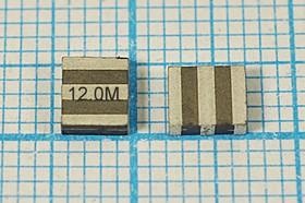 Керамические резонаторы 12МГц, SMD 4.7x4.1мм с тремя контактами, пкер 12000 \C04741C3\\5000\3000/- 20~80C\ZTTCS12,0MT\AEC