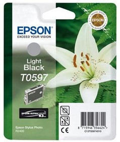 Фото 1/2 Картридж EPSON T0597 светло-черный [c13t05974010]