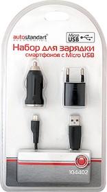 104402-1, Зарядное устройство micro USB, 220/24/12v - 5v 1А