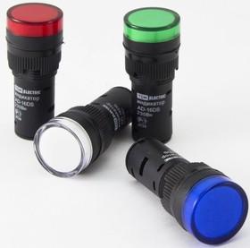 SQ0702-0069, Лампа AD-16DS(LED) матрица d16мм синий 110В AC/DC