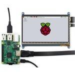 Фото 2/4 7inch HDMI LCD (C), HDMI дисплей 1024×600px с емкостной сенсорной панелью для Raspberry Pi