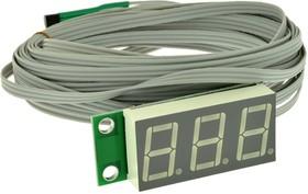 Фото 1/4 STH0014UR, Встраиваемый цифровой термометр с выносным датчиком (красный индикатор)