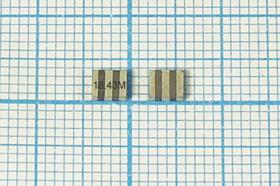 Керамические резонаторы 18.43МГц, SMD 3.7x3.1мм с тремя контактами, пкер 18430 \C03731C3\\4000\ /-20~80C\ZTTCV18,43MX\